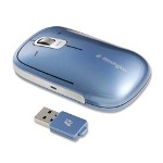 "Kensington Presenter Mouse, USB Receiver, 2-12"" x 3-3/4"" x 3/4"", Ice Blue"