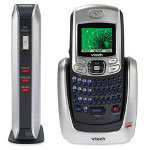 Vtech Digital Cordless Phone, 6.0, CID/CW, Stores 50 Calls, Black/Silver