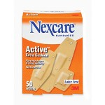 Nexcare Waterproof Bandages, Assorted Sizes, 50/Box