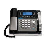 RCA Business Speaker Phone, 6.0, 4-Line, Expandable, Black/Silver