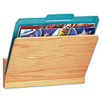 "Carver Wood Products 12"" x 5"" x 8"" Pocket Wall File, Oak"