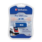 Verbatim PRO USB Flash Drive, 2.0, 16GB, Writes 80X/Reads 200X