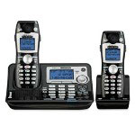 GE Cordless Phone, w/Answering System, CID/CW, 2 Handsets, Black