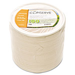 Conserve® 10222 White Sugar Cane Paper Bowls, 12 Ounces