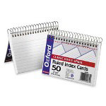 "Esselte Spiral Bound Index Cards, Ruled, Perforated, 3"" x 5"" Neon"