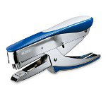 Esselte Top Load Hand Stapler, Staples 30 Sheets, Metallic Blue