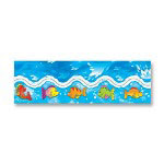 Carson Dellosa Publishing Company Fish and Waves Border, Grades PK-8, 12 Strips, 3'' x3""