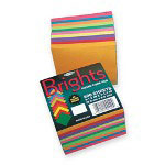 "Pacon Array Bright Gummed Memo Cube, 3 1/2"" x 3 1/2"", Brights Assorted"