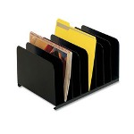 "Vertical Organizer, 8 Compartment, 15"" x 11"" x 8-1/8"", Black"