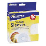 Memorex CD/DVD Sleeves w/ Windows, White