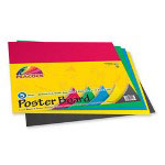 "Pacon Poster Board, Recyclable, 11"" x 14"" 5/PK, Primary Colors"