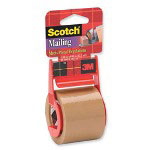 "3M Mailing Tape w/ Dispenser, 2""x8"", Tan"