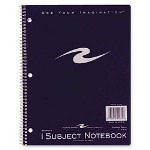 "Roaring Spring Paper Wirebound Notebook, College Ruled, 1-Sub., 3HP, 11"" x 8-1/2"" Ast."