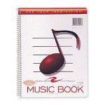 "Roaring Spring Paper Music Notebook, Wirebound, 11""x8-1/2"", 32 Sheets"