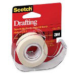"3M Drafting Tape, w/ Dispenser, 3/4""x400"", Natural"