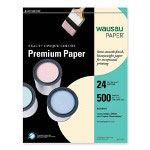 "Wausau Papers Premium Copy Paper, 8 1/2""x11"", White, 24 LB, One Ream"