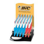Bic 4-Color Pens,Refillable,12 Medium/24 Fine Pt.,36/DS,Asst.