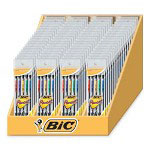 Bic Mechanical Pencils,0.7mm,72/DS,Black Barrel/Asst, Pckt Clip