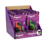 Accentra Assorted Candy Color Staplers with a 15 Sheet Capacity in a Display Box