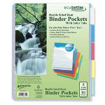 Better Office Products 5-Tab Sheet Dividers, Assorted Colors