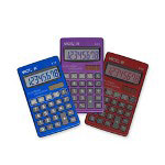 Victor Pocket Calculator, 8-Digit, Solar, w/Battery Backup, Assorted
