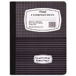"Mead Composition Book, Special Ruled, 100 Shts, 9-3/4"" x 7-1/2"" BE/ME"