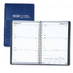 "House Of Doolittle Weekly Planner, Wirebound, 12 Month, Jan-Dec, 5"" x 8"" Blue Cover"