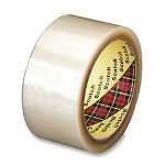"3M Box Sealing Tape, 2""x54-3/5 Yards, Transparent"