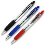 Zebra Pen Z-Grip Max Ballpoint Pen, 1mm Pen Point Size - Blue Ink, 2 Pack