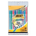Bic Ballpoint Pen, Medium Point, 10/PK, Asst Barrel/Black Ink