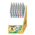 Bic Mechanical Pencil,Rubber Grip,Refillable,.9mm,36/DS,Assorted