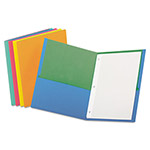 "Esselte Twin Pocket Portfolio, w/Fasteners, 11"" x 8-1/2"", 50/DS, Asst."