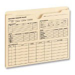 Smead Employee Record File Jacket, Preprinted Front, 15/PK, Manila
