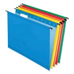 Pendaflex Poly Laminate Hanging Folders, Letter, 1/5 Tab, Assorted, 20/Box