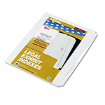 Kleer-Fax 1/25 Cut Index Tabs, White