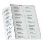 "Avery Address Labels, Laser, 30 Labels P/Sheet, 1"" x 2-5/8"" 125/BX, WE"