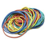 Baumgarten's Rubber Bands, 5 oz., 30/PK, Assorted Sizes/Colors