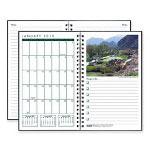 "House Of Doolittle Monthly Journal, Golf Course Photos, Jan-Dec, 5"" x 8"" Black Cover"