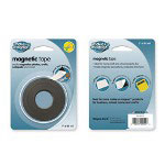 "Magna Card Magnetic Tape, Super-Strength, 1-Side Adhesive, 1"" x 10', Black"