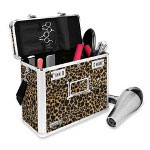 "Ideastream Locking Style Security Tote, 13""x6""x10-3/4"", Fuzzy Cheetah"