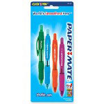 Papermate® Ballpoint Pen, 1.4mm, Retractable, 4/CD, Assorted