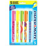 Papermate® Highlighters, Chisel Tip, 5/PK, Assorted