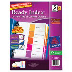 Avery Ready Index Dividers 5-Tab, 3 Sets, Multicolor