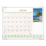 "At-A-Glance Desk Pad, Recycled, 12-Month, Jan-Dec, 22""x17"", Beaches"