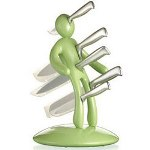 CSB The Ex 5pc. Stainless Steel Knives with Apple Green Holder
