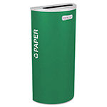 Ex-Cell Metal Green Recycling Bin, 8 Gallon