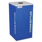 Ex-Cell Metal Blue Recycling Bin, 24 Gallon