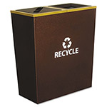 Ex-Cell Metal Brown Recycling Bin, 14 Gallon