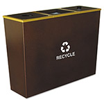 Ex-Cell Metal Brown Recycling Bin, 54 Gallon