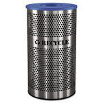 Ex-Cell Metal Silver Recycling Bin, 33 Gallon
